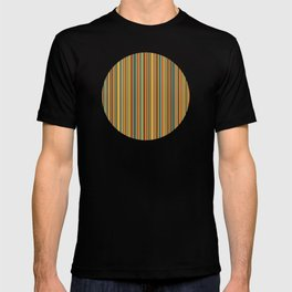 Retro stripes in vintage colors (mid century modern; 60s and 70s) T-shirt