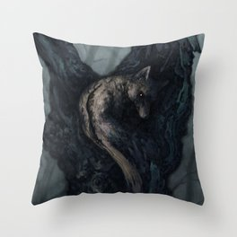The Fox And The Beech Tree Throw Pillow
