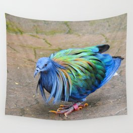 Nicobar Pigeon Strut Wall Tapestry