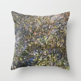 Ombre Leaves Throw Pillow