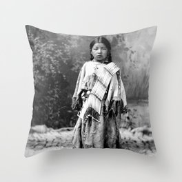 Dakota Sioux Little Girl Throw Pillow