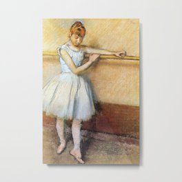 Dancer At The Barre By Edgar Degas | Reproduction | Famous French Painter Metal Print