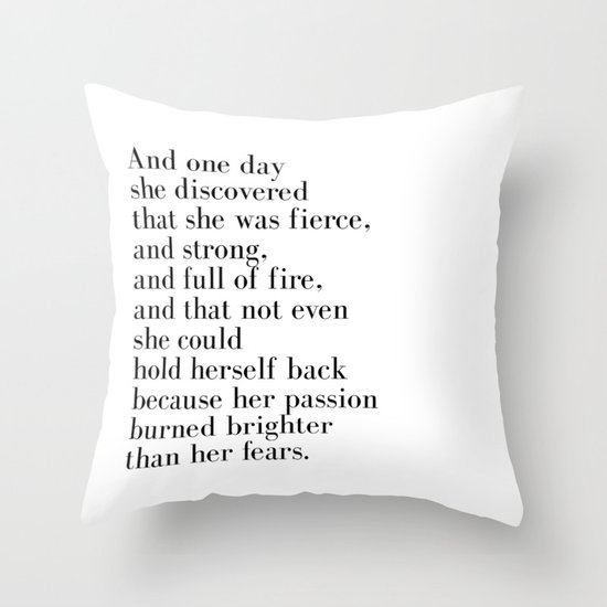 And one day she discovered that she was fierce by quoteme