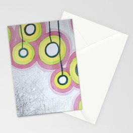 Hanging Light Bulbs Stationery Cards