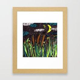 Summer Cattails Framed Art Print