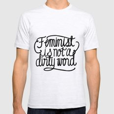 Feminist Is Not a Dirty Word Mens Fitted Tee Ash Grey SMALL