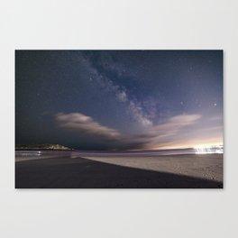 Milkyway at Good Harbor Beach Canvas Print
