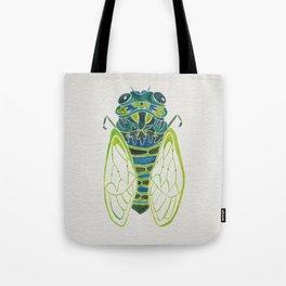 Blue Cicada Tote Bag