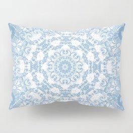 Blue and White Mandala Pillow Sham
