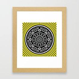 Modern Mandala (Yellow) Framed Art Print