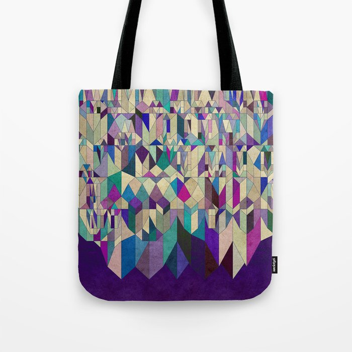 Purple Town Tote Bag