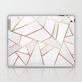 White Stone & Copper Lines Laptop & iPad Skin