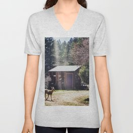 A Little Mountain Paradise Unisex V-Neck