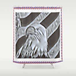 """Eagle Glory"" Shower Curtain"