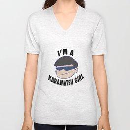i'm a karamatsu girl Unisex V-Neck