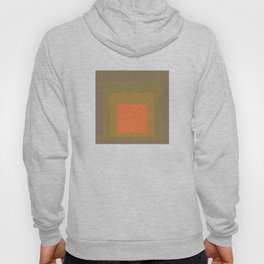 Block Colors - Muted Earthy Tones and Bright Orange Hoody