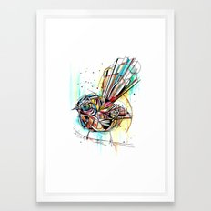Bold Fantail Framed Art Print
