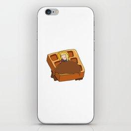 Leslie Knope + Giant Waffle iPhone Skin