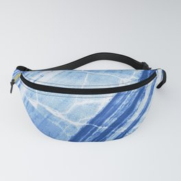 Abstract Marble - Denim Blue Fanny Pack