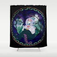 ursula Shower Curtains featuring Ursula by Mazuki Arts