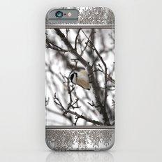 Winter Windblown Black-Capped Chickadee Slim Case iPhone 6s