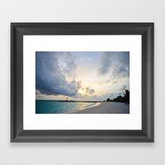Sunset Maldives Framed Art Print