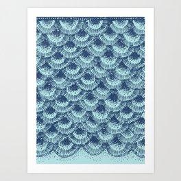 Seafoam Coral Art Print