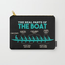 Funny Rowing Gifts - The real parts of the boat Carry-All Pouch