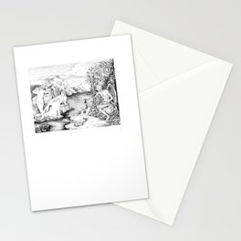3 women bathing Stationery Cards