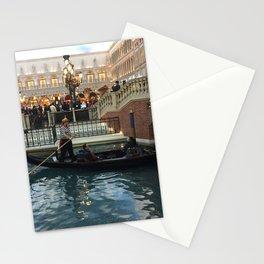 Gondola ride at the Venetian in Las Vegas Nevada Stationery Cards