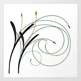 Abstract Grass Art Print