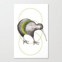 kiwi Canvas Prints featuring Kiwi by Alexander Salazar