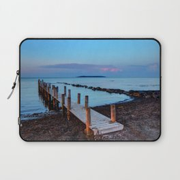 Peace and silence - a pier at sunset Laptop Sleeve