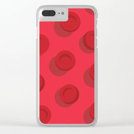 Red Blood Cells Clear iPhone Case