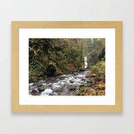 Larch Mountain Waterfall Framed Art Print