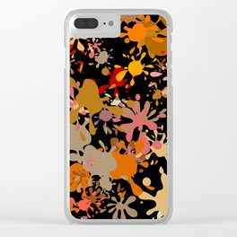 Fun Brown Paint Splats Clear iPhone Case
