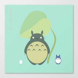 Totor0 and friends Canvas Print