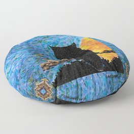 Owl At Peace Floor Pillow
