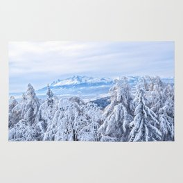 White out #mountains #winter Rug