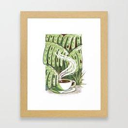 Rainforest Coffee Framed Art Print