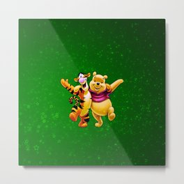 winnie and tiger Metal Print