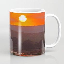 Sunrise at a river in Africa  Coffee Mug