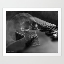 STRINGS AND BONES Art Print