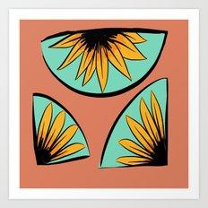 sunflower pieces  Art Print