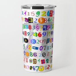Colorful and Fun Depiction of Pi Calculated Travel Mug