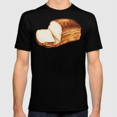 Bread Pattern SMALL Mens Fitted Tee Black
