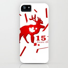 Canada Moose 151 Years Eh? iPhone Case