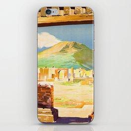 Vintage Pompei Italy Travel iPhone Skin