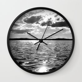 Metallic Waters Wall Clock