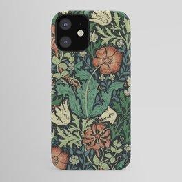 William Morris Compton Floral Art Nouveau Pattern iPhone Case